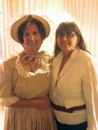 Women of the American Revolution were represented by two of the La Cuesta Players, Kathy Andrews and Nikki Schmidt.  This skit depicted women's roles during the American Revolutionary War, from spies to soldiers.