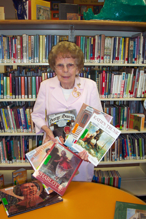 Peggy Milburn, Regent presented children's books to the San Luis Obispo County Library in June 2005
